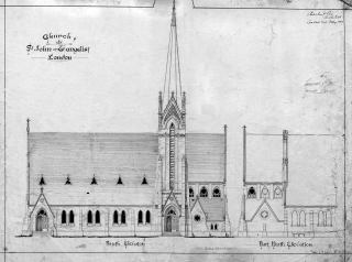 St. John the Evangelist Drawing of Exterior
