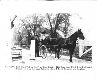 Proof Line Road Toll Gates 1907
