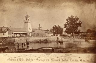 Sulphur Spring Bathing House London Ontario  photograph
